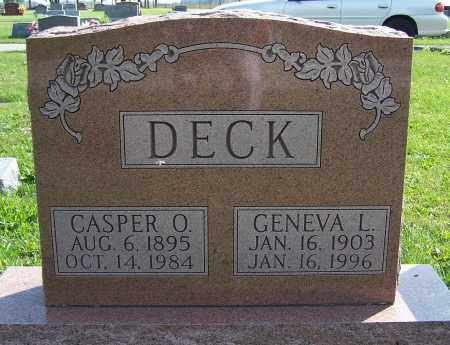 DECK DECK, GENEVA L. - Greene County, Ohio | GENEVA L. DECK DECK - Ohio Gravestone Photos