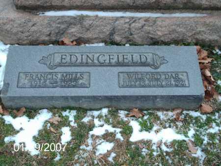 EDINGFIELD, WILFORD DAR - Greene County, Ohio   WILFORD DAR EDINGFIELD - Ohio Gravestone Photos