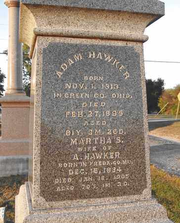 HAWKER, MARTHA S. - Greene County, Ohio | MARTHA S. HAWKER - Ohio Gravestone Photos
