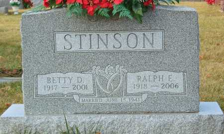 DONAHOE STINSON, BETTY D. - Greene County, Ohio | BETTY D. DONAHOE STINSON - Ohio Gravestone Photos