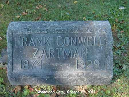 ZARTMAN, FRANK - Greene County, Ohio | FRANK ZARTMAN - Ohio Gravestone Photos