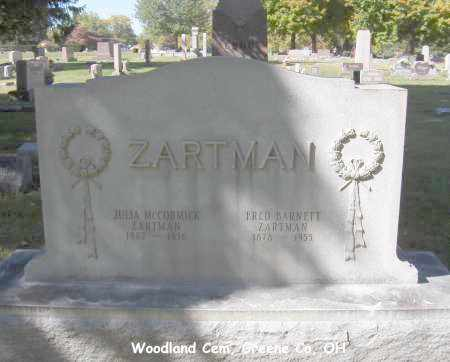 ZARTMAN, FRED - Greene County, Ohio | FRED ZARTMAN - Ohio Gravestone Photos