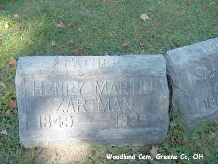 ZARTMAN, HENRY - Greene County, Ohio | HENRY ZARTMAN - Ohio Gravestone Photos