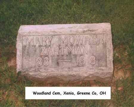 MOWRER ZARTMAN, MARY - Greene County, Ohio | MARY MOWRER ZARTMAN - Ohio Gravestone Photos