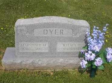 DYER, MARSHALL MYRON - Guernsey County, Ohio   MARSHALL MYRON DYER - Ohio Gravestone Photos