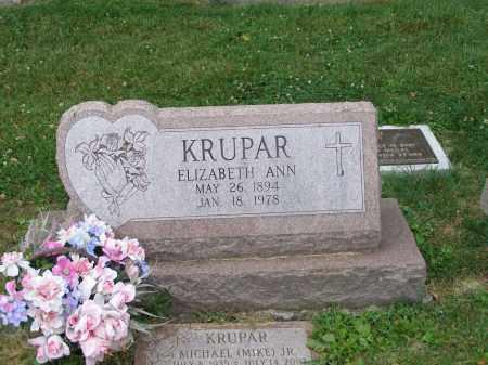 PAPCUM KRUPAR, ELIZABETH ANN - Guernsey County, Ohio | ELIZABETH ANN PAPCUM KRUPAR - Ohio Gravestone Photos