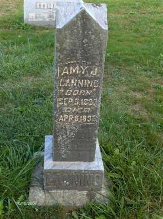 LANNING, EMMA (AMY) LANE - Guernsey County, Ohio | EMMA (AMY) LANE LANNING - Ohio Gravestone Photos