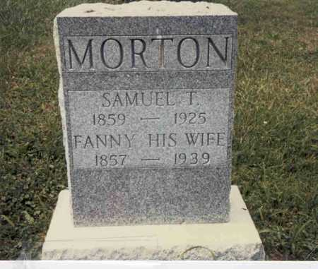 MORTON, FANNY - Guernsey County, Ohio | FANNY MORTON - Ohio Gravestone Photos