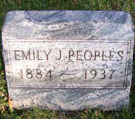 PEOPLES, EMILY JANE - Guernsey County, Ohio | EMILY JANE PEOPLES - Ohio Gravestone Photos