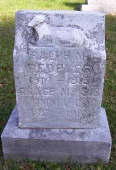 PEOPLES, GRACE M - Guernsey County, Ohio | GRACE M PEOPLES - Ohio Gravestone Photos