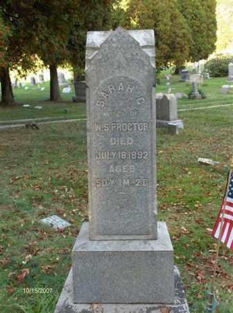 PROCTOR, SARAH CATHARINE - Guernsey County, Ohio | SARAH CATHARINE PROCTOR - Ohio Gravestone Photos