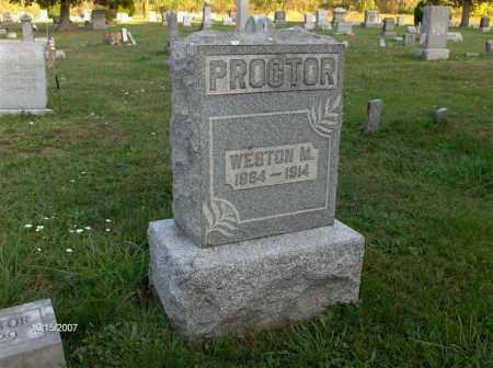 PROCTOR, WESTON M - Guernsey County, Ohio   WESTON M PROCTOR - Ohio Gravestone Photos