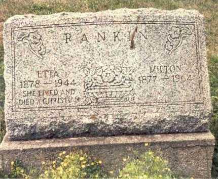 MORTON RANKIN, ETTA - Guernsey County, Ohio | ETTA MORTON RANKIN - Ohio Gravestone Photos