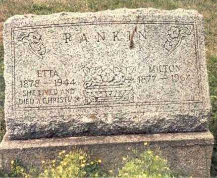 RANKIN, MILTON - Guernsey County, Ohio | MILTON RANKIN - Ohio Gravestone Photos