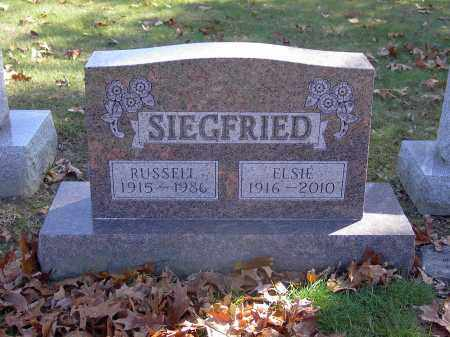 SIEGFRIED, RUSSELL - Guernsey County, Ohio | RUSSELL SIEGFRIED - Ohio Gravestone Photos