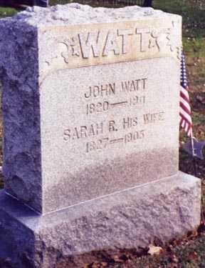 WATT, SARAH R. - Guernsey County, Ohio | SARAH R. WATT - Ohio Gravestone Photos