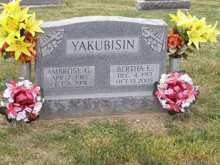 KRUPAR YAKUBISIN, BERTHA E. - Guernsey County, Ohio | BERTHA E. KRUPAR YAKUBISIN - Ohio Gravestone Photos