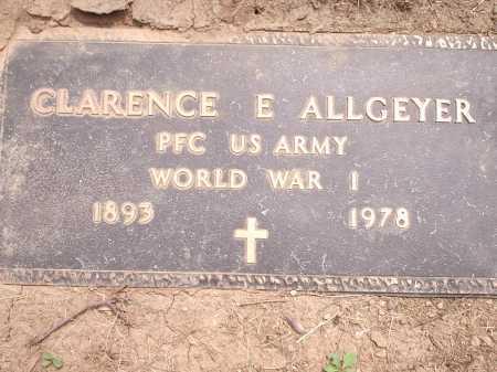 ALLGEYER, CLARENCE E. - Hamilton County, Ohio   CLARENCE E. ALLGEYER - Ohio Gravestone Photos