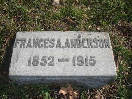 ANDERSON, FRANCES A. - Hamilton County, Ohio | FRANCES A. ANDERSON - Ohio Gravestone Photos