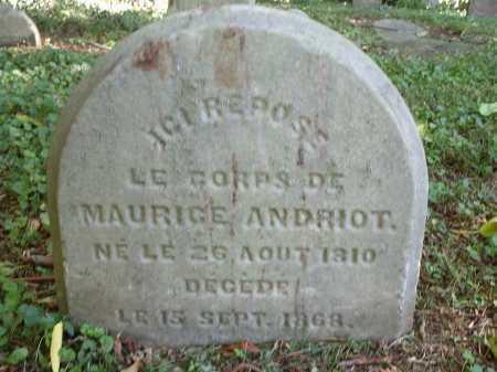 ANDRIOT, MAURICE - Hamilton County, Ohio | MAURICE ANDRIOT - Ohio Gravestone Photos