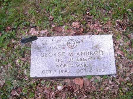 ANDROIT, GEORGE  M - Hamilton County, Ohio | GEORGE  M ANDROIT - Ohio Gravestone Photos