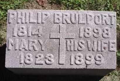 BRULPORT, PHILIP - Hamilton County, Ohio | PHILIP BRULPORT - Ohio Gravestone Photos