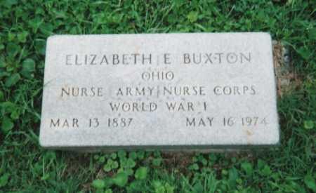 BUXTON, ELIZABETH ETHEL - Hamilton County, Ohio   ELIZABETH ETHEL BUXTON - Ohio Gravestone Photos