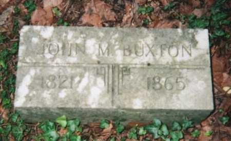 BUXTON, JOHN M. - Hamilton County, Ohio   JOHN M. BUXTON - Ohio Gravestone Photos