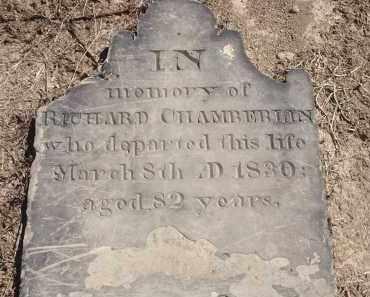 CHAMBERLIN, RICHARD - Hamilton County, Ohio   RICHARD CHAMBERLIN - Ohio Gravestone Photos