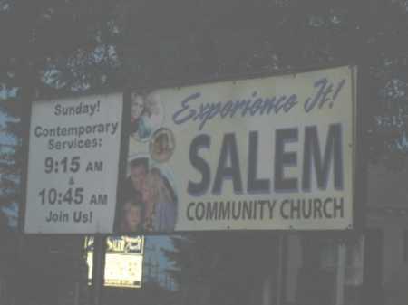 CHURCH, SALEM COMMUNITY - Hamilton County, Ohio | SALEM COMMUNITY CHURCH - Ohio Gravestone Photos
