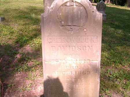 DAVIDSON, GREENWOOD K. - Hamilton County, Ohio | GREENWOOD K. DAVIDSON - Ohio Gravestone Photos