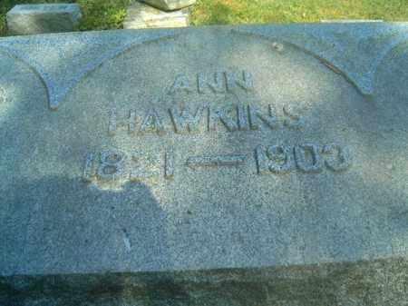 HAWKINS, ANN - Hamilton County, Ohio | ANN HAWKINS - Ohio Gravestone Photos