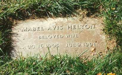 SASSER HELTON, MABEL AVIS - Hamilton County, Ohio | MABEL AVIS SASSER HELTON - Ohio Gravestone Photos
