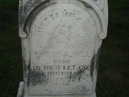 MCCORMICK HILL, HENRIETTA - Hamilton County, Ohio | HENRIETTA MCCORMICK HILL - Ohio Gravestone Photos