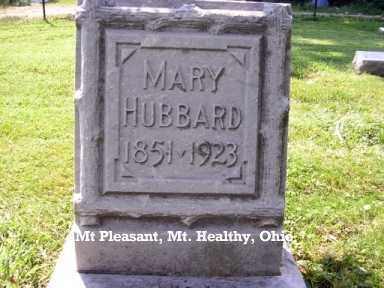 HUBBARD, MARY - Hamilton County, Ohio | MARY HUBBARD - Ohio Gravestone Photos