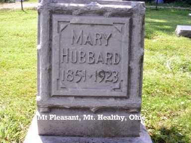 GARDNER HUBBARD, MARY - Hamilton County, Ohio | MARY GARDNER HUBBARD - Ohio Gravestone Photos