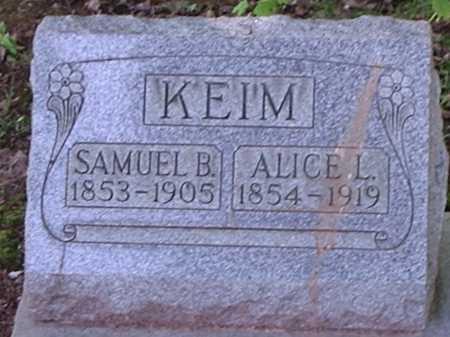 KEIM, SAMUEL B. - Hamilton County, Ohio | SAMUEL B. KEIM - Ohio Gravestone Photos