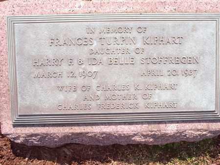 KIPHART, FRANCES - Hamilton County, Ohio   FRANCES KIPHART - Ohio Gravestone Photos