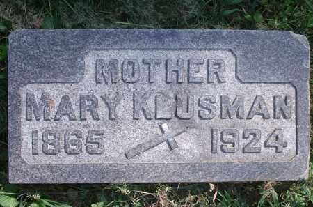 KLUSMAN, MARY - Hamilton County, Ohio | MARY KLUSMAN - Ohio Gravestone Photos