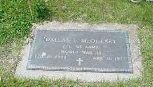 MCQUEARY, DALLAS - Hamilton County, Ohio   DALLAS MCQUEARY - Ohio Gravestone Photos