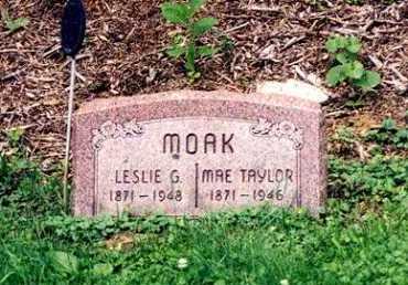 MOAK, LESLIE G. - Hamilton County, Ohio | LESLIE G. MOAK - Ohio Gravestone Photos