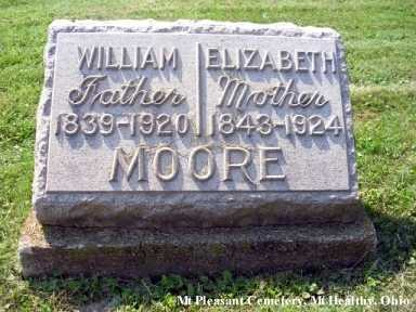 MOORE, ELIZABETH - Hamilton County, Ohio | ELIZABETH MOORE - Ohio Gravestone Photos
