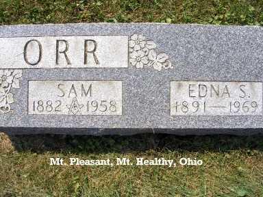 ORR, SAMUEL - Hamilton County, Ohio | SAMUEL ORR - Ohio Gravestone Photos