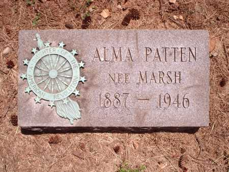 MARSH PATTEN, ALMA - Hamilton County, Ohio | ALMA MARSH PATTEN - Ohio Gravestone Photos