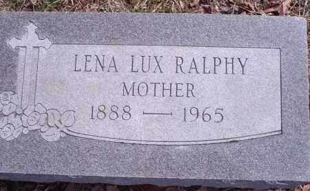 LUX RALPHY, LENA - Hamilton County, Ohio | LENA LUX RALPHY - Ohio Gravestone Photos
