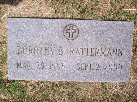 RATTERMANN, DOROTHY B. - Hamilton County, Ohio   DOROTHY B. RATTERMANN - Ohio Gravestone Photos