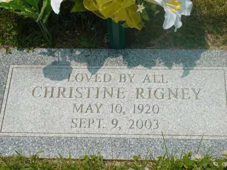 RIGNEY, CHRISTINE - Hamilton County, Ohio | CHRISTINE RIGNEY - Ohio Gravestone Photos