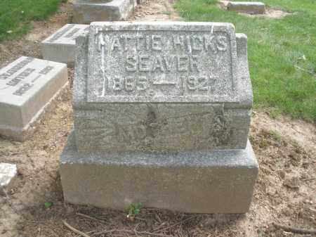 HICKS SEAVER, HATTIE - Hamilton County, Ohio | HATTIE HICKS SEAVER - Ohio Gravestone Photos
