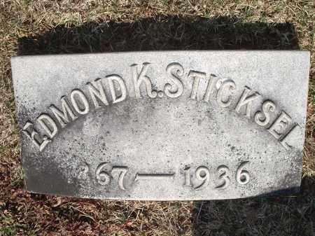 STICKSEL, EDMOND - Hamilton County, Ohio   EDMOND STICKSEL - Ohio Gravestone Photos