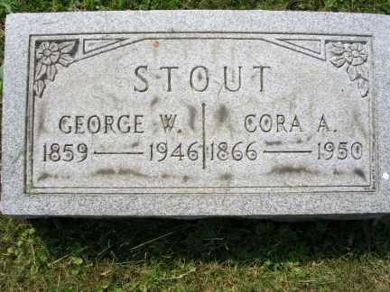 STOUT, GEORGE W. - Hamilton County, Ohio | GEORGE W. STOUT - Ohio Gravestone Photos